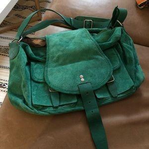 Handbags - NWT green suede leather saddle bag Arden B